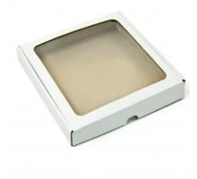 Упаковка с окном, 190x185x34мм, белая, для кондитерских изделий