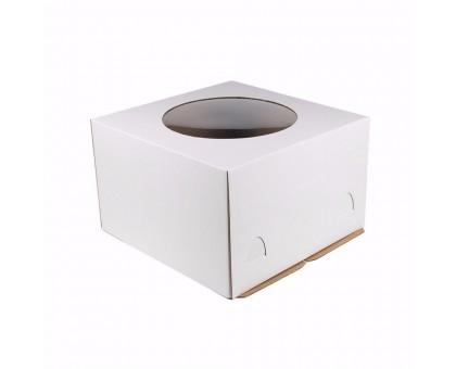 Короб для торта белый, 300х400х260мм, с окном, EB 260, Патичерри
