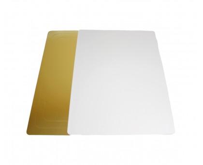 Подложка под торт прямоугольная, 3,2 мм, 400х600мм, золото/жемчуг, GWD