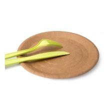 Одноразовая бумажная тарелка ECO PLATE, 230мм, крафт