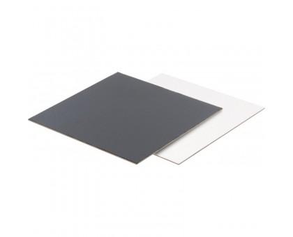 Подложка под торт квадратная, 3.2 мм, 240х240мм, черная/белая