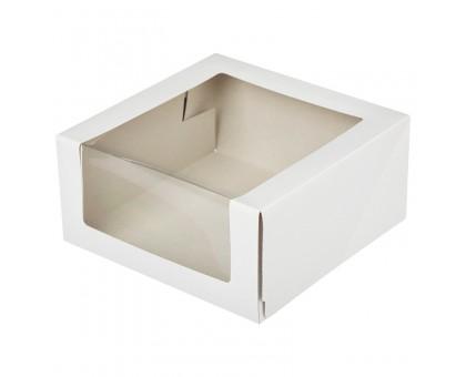 Коробка для торта КТ110, с окном, 22,5*22,5*10см, Патичерри, DoEco