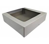 Коробка для торта КТ100, с окном, 180х180х100мм, Патичерри