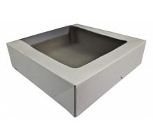 Коробка для торта КТ100, с окном, 18*18*10см, Патичерри, DoEco