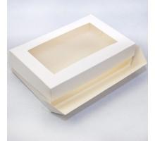 Упаковка для эклеров и зефира, 250x150x50мм, белая, с окном