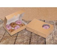 Контейнер для пончиков ECO Donuts M, 185х270х55мм, Doeco
