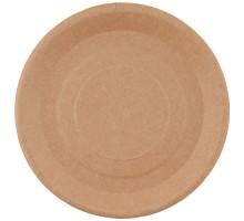 Одноразовая бумажная тарелка ECO PLATE, 180мм, крафт