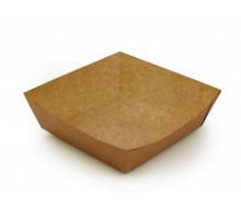 Лоток ECO TRAY 550, без ламинации, для бургера, фри, чиабатты, 139х139х42мм, 550 мл, Doeco