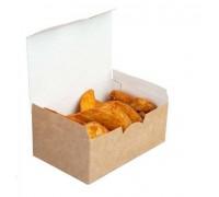 Контейнер под нагетсы, креветки, луковые колечки, Eco Fast Food L, 150х91х70мм, Doeco