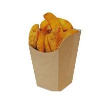 Упаковка для снеков, картофеля фри ECO SNACK CUP М, 72х72х110 мм, прямоугольная, бурая, Doeco