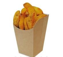 Упаковка для снеков, картофеля фри ECO SNACK CUP L, 84х84х125 мм, прямоугольная, бурая, Doeco