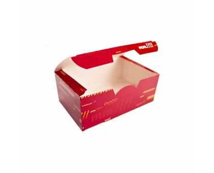Коробка под нагетсы, куриные крылья, креветки, МЕГА, цветная, 115х75х45мм, Нагетс 6