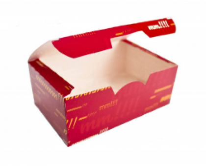 Коробка под нагетсы, куриные крылья, креветки, МЕГА, цветная, 140х85х65мм, Нагетс 9
