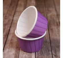 Усиленная бумажная форма для выпечки кексов и маффинов, фиолетовая, 50х40мм, Pasticciere, 100 штук
