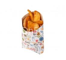 Упаковка для картофеля фри ECO FRY M Enjoy, цветная, 120х50х100мм