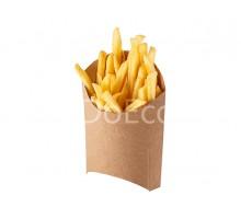 Упаковка для картофеля фри ECO FRY L «Pure Kraft», 126х40х135мм