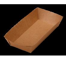 Лоток ECO TRAY 800, без ламинации, для бургера, фри, чиабатты, 115х220х42мм, 800 мл, Doeco
