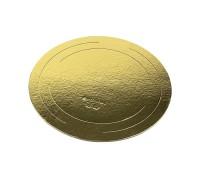 Подложка для торта, диаметр 100мм, толщина 0.8мм, круглая, золото