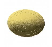 Подложка под торт, круг, 2,5 мм, 200-500 мм, золото, GWD