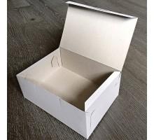 Короб бумажный 140х140х60мм, самосборный, БЕЛЫЙ