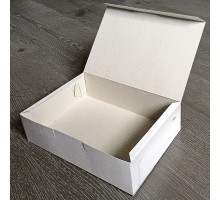 Короб бумажный 215х150х60мм, самосборный, БЕЛЫЙ