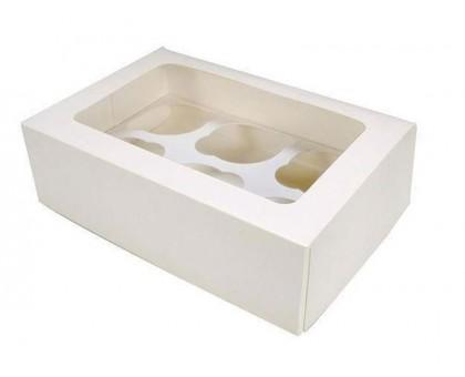 Упаковка под маффины CUP, для 6 маффинов, 250х170х100мм, с окном