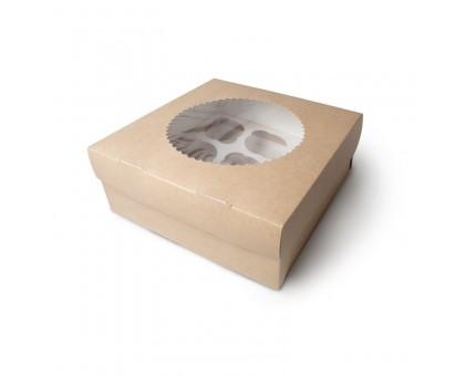 Упаковка под маффины ECO MUF, 9шт, с окном, 250х250х100мм, Doeco