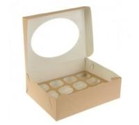 Упаковка под маффины ECO MUF, 12шт, с окном, 330х250х100мм, Doeco