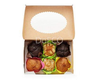 Упаковка под маффины ECO MUF, 6шт, с окном, 250х170х100мм, Doeco