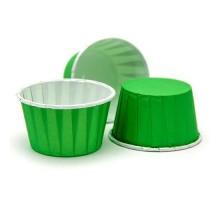 Усиленная бумажная форма для выпечки кексов и маффинов, зеленая, 50х40мм, Pasticciere, 100 штук