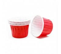 Усиленная бумажная форма для выпечки кексов и маффинов, красная, 50х40мм, Pasticciere, 100 штук