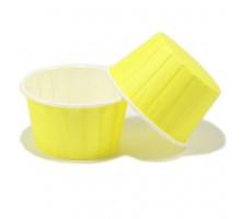 Усиленная бумажная форма для выпечки кексов и маффинов, желтая, 50х40мм, Pasticciere, 100 штук