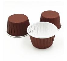 Усиленная бумажная форма для выпечки кексов и маффинов, коричневая, 50х40мм, Pasticciere, 100 штук