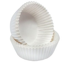 Тарталетка бумажная круглая, белая, 40х25мм, 1000 штук
