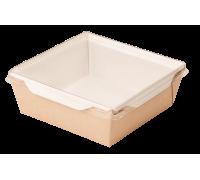 Контейнер бумажный с прозрачной крышкой OpSalad 1200, 165х165х65мм, 1200мл, Doeco