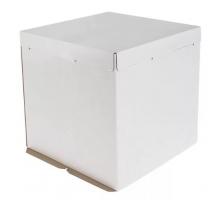 Короб картонный для торта белый, 300х300х450мм, Pasticciere