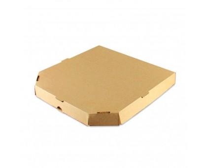 Коробка под пиццу 30х30см, бурая, без рисунка