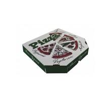 Коробка под пиццу 25х25 см, белая, с рисунком
