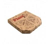 Коробка под пиццу бурая, с рисунком, 30х30см