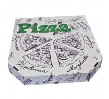 Коробка под пиццу 30х30см, белая, с рисунком
