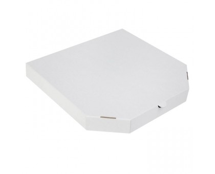 Коробка под пиццу 40х40см, белая, цельный гофрокартон Е