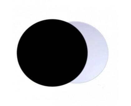 Подложка для торта, диаметр 260мм, толщина 1.5мм, круглая, черная/серебро