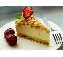 Подложка для десерта, с держателем, треугольная, 120х90мм, 0.8мм, 100 шт/упак