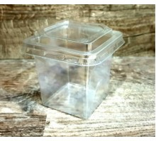 Контейнер для десерта (под трайфл), 250мл, 80х75мм, прозрачный с крышкой