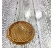Купольная пластиковая пищевая упаковка ПР-Т-85, золотое дно