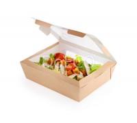 Контейнер для салата Salad 600, 150x115x50мм, с прозрачным окном, 600 мл