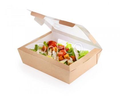 Контейнер для салата Salad 1000, 190x150x50мм, с прозрачным окном, 1000 мл