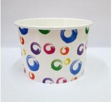 Креманка бумажная для мороженого Шарики, 290 мл, 38шт/уп