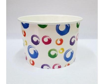 Креманка бумажная для мороженого Шарики, 395 мл, 38шт/уп
