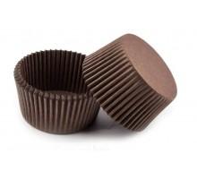 Тарталетка бумажная круглая, коричневая, 30х15мм, 500 штук/уп